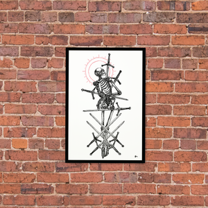 """Image of """"Eight of Swords"""" 13""""x19"""" Luster Paper Print"""