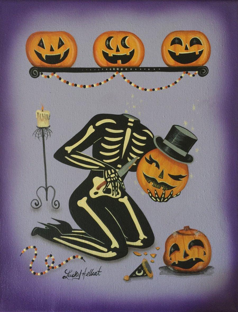 Image of Pumpkin Head 8 x 10 Signed Print
