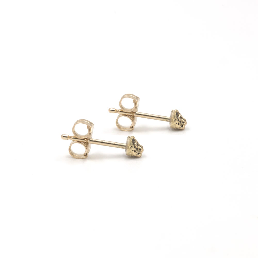 Little Leopard Studs- 14K Gold
