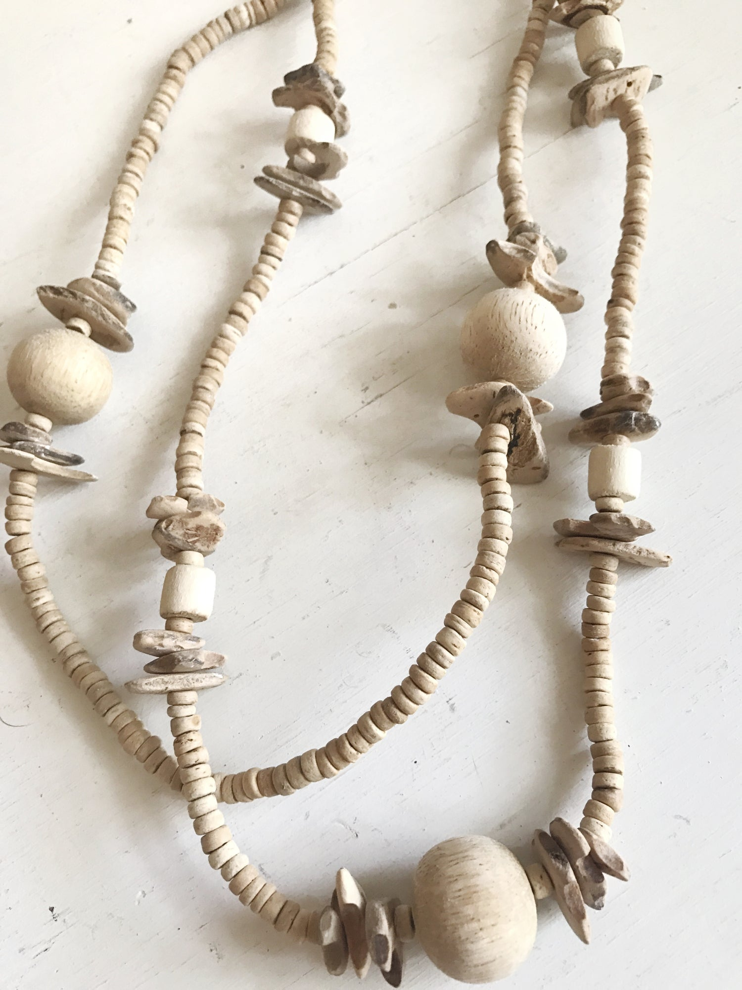 Image of Wooden Bead Necklace