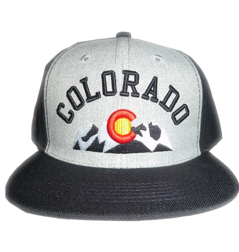 Image of COLORADO STATE ROCKY MOUNTAINS BLACK SNAPBACK HAT