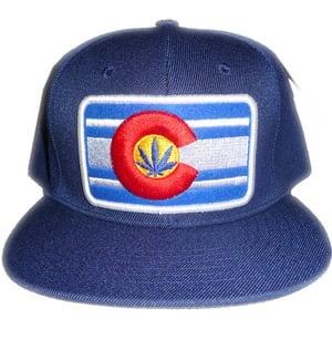 Image of THE CLASSIC COLORADO BUD TENDERS HAT NAVY BLUE COLORADO LOGO