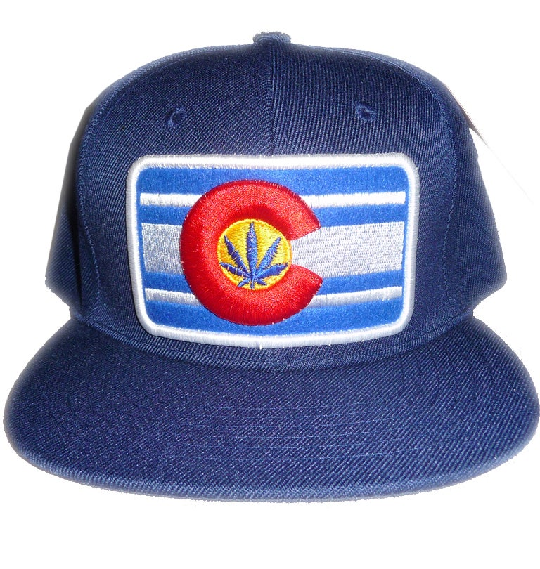 Image of THE CLASSIC COLORADO BUD TENDERS HAT NAVY BLUE COLORADO LOGO