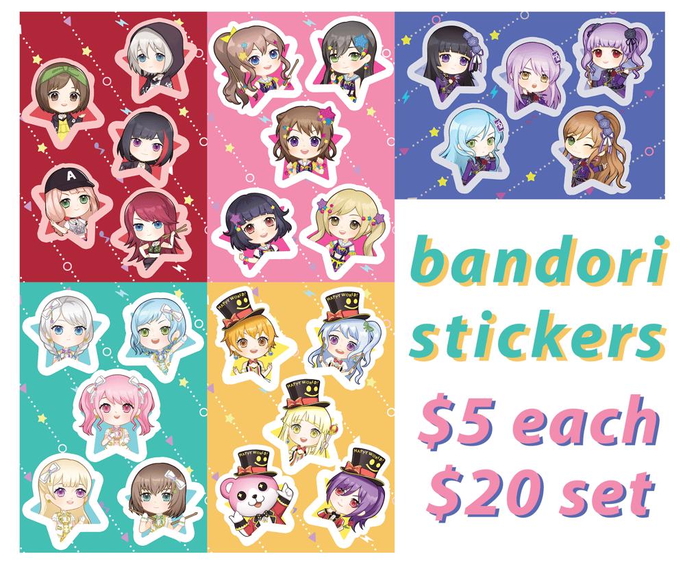 Image of bandori stickers