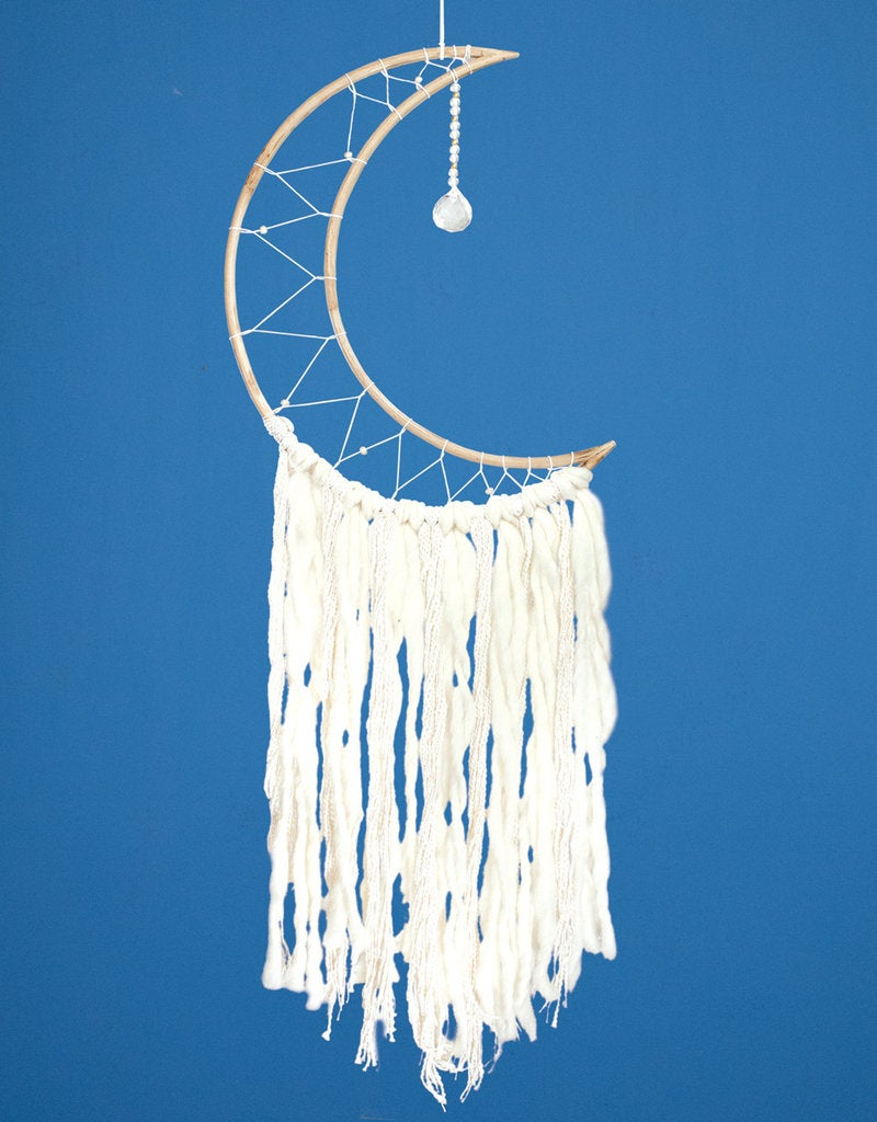 Image of White Moon Dream Catcher | Sweet Dreams | Good Dreams | Sleep Easy