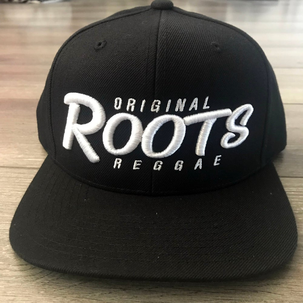 Image of ***NEW*** ORIGINAL ROOTS REGGAE Black Snapback Hat