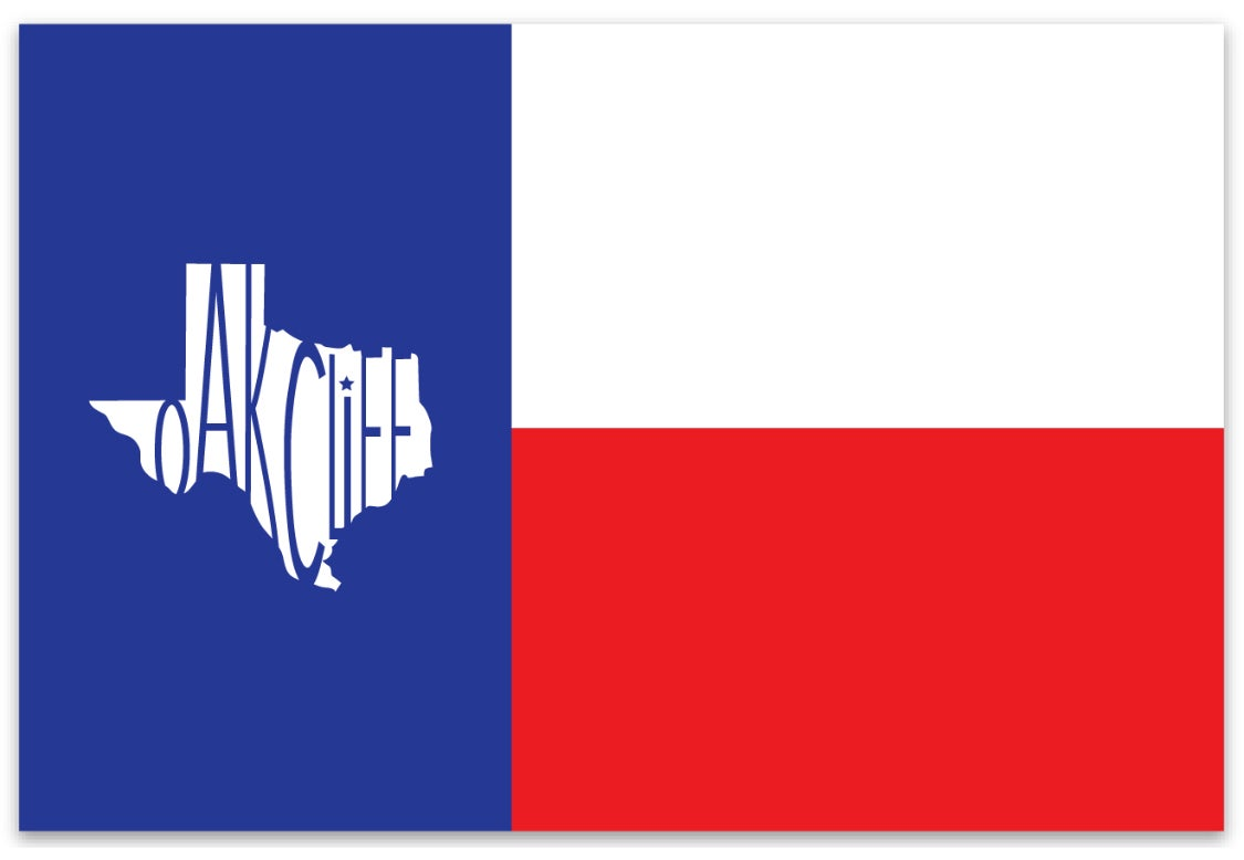 Image of Oak Cliff Texas Flag Sticker