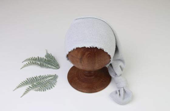 Image of Soft Grey Newborn Night Cap