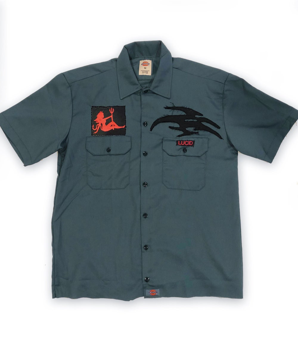 Image of LUCID WORKSHIRT (FOREST GREEN)