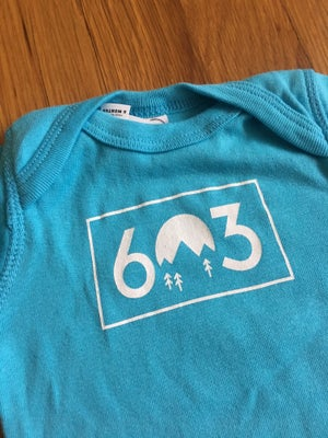 Image of Blue 603 onesie