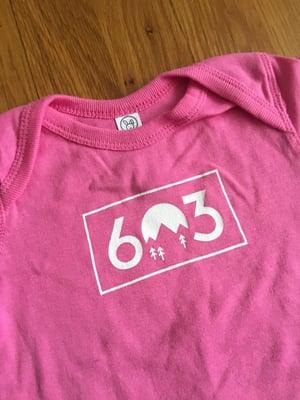 Image of Pink 603 onesie