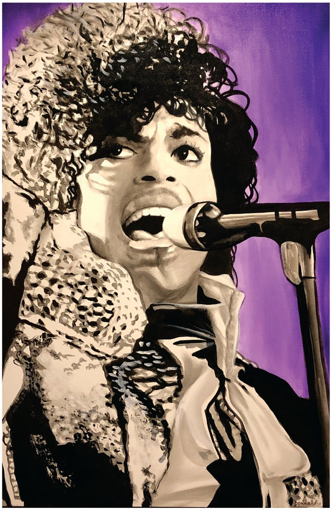 Image of Purple Party Man (Prince) Print