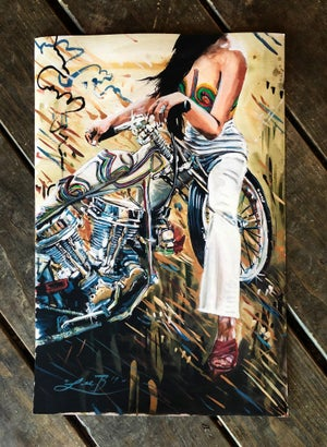 Image of LIMITED EDITION PAINTED LADY PAINTED BY LEE BULLOCK