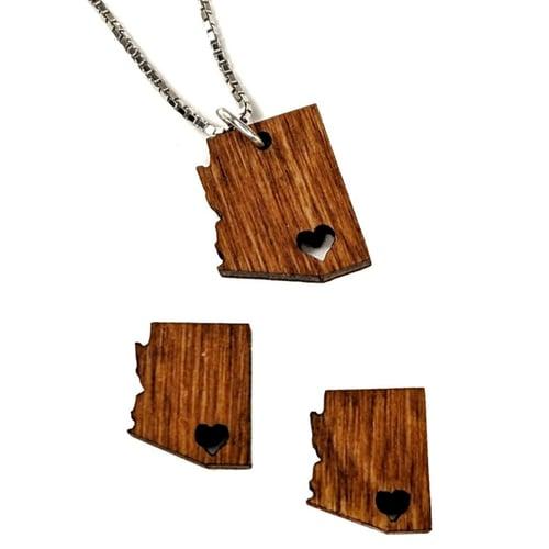 "Image of ""Sweet Home Arizona"" Charm Necklace"