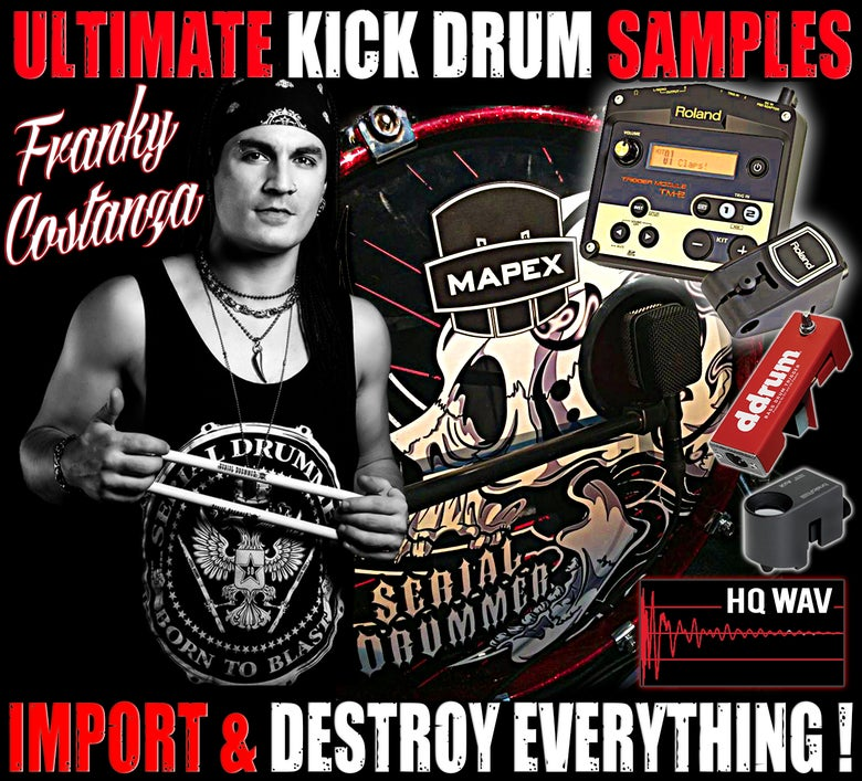 Image of ULTIMATE KICK DRUM SAMPLES by Franky Costanza
