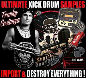 Image of ULTIMATE ★ KICK DRUM ★ SAMPLES by FRANKY COSTANZA