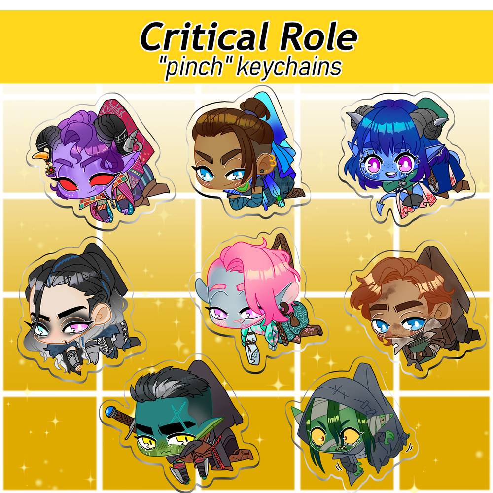 "Image of [Discontinued] Critical Role THE MIGHTY NEIN ""Pinch"" Keychains"