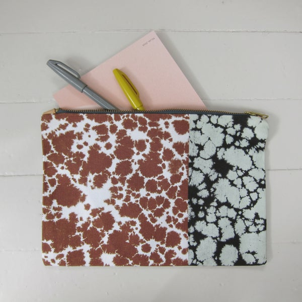 Image of Printed textile clutch, large # 1