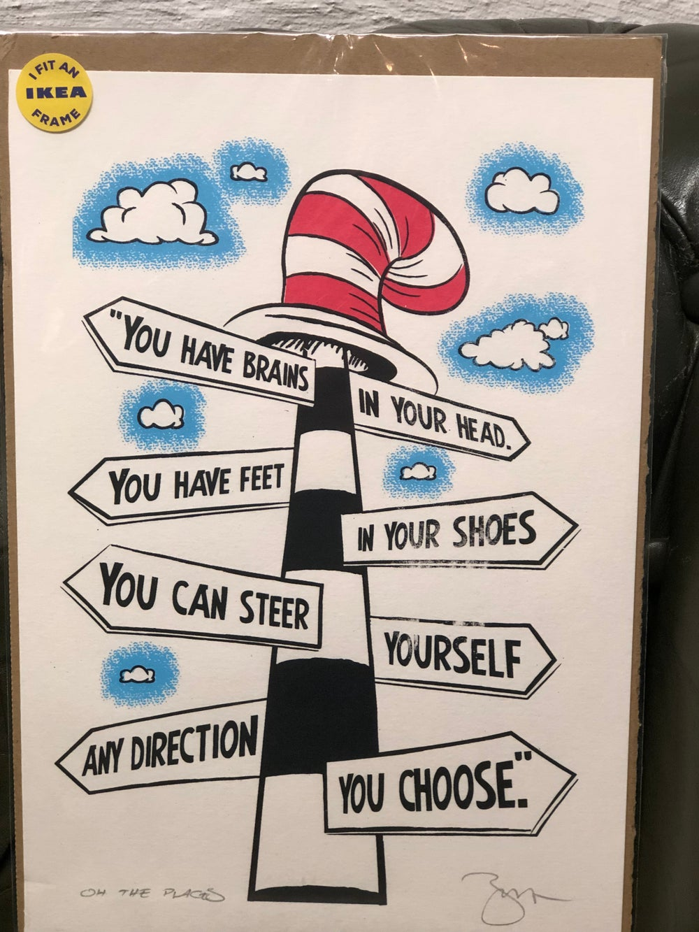 Image of Cat in the Hat Any Direction Print