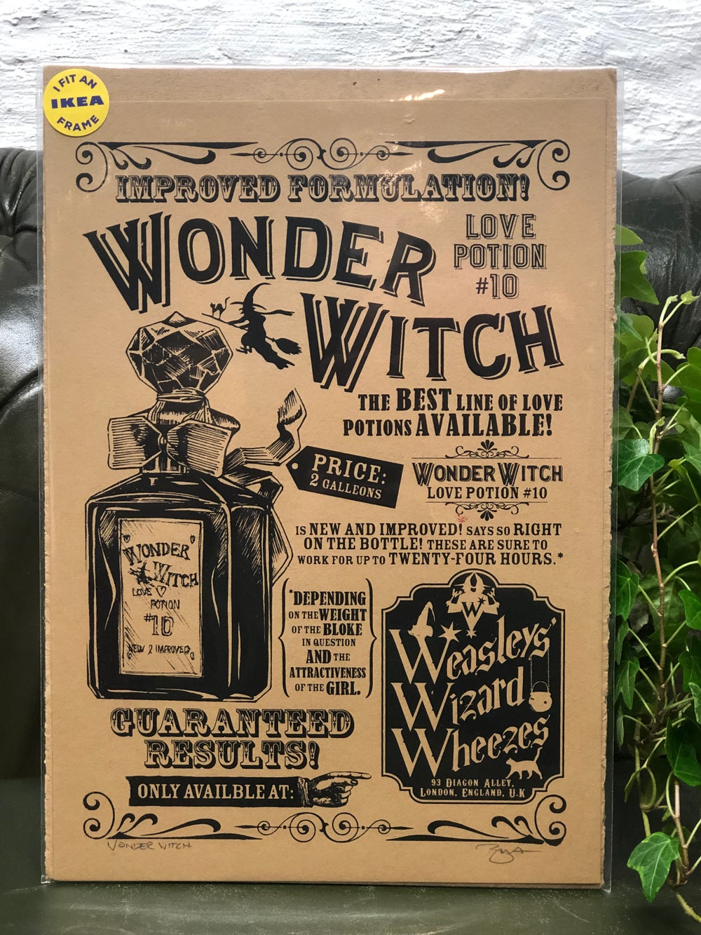 Image of Harry Potter Wonder Witch Print