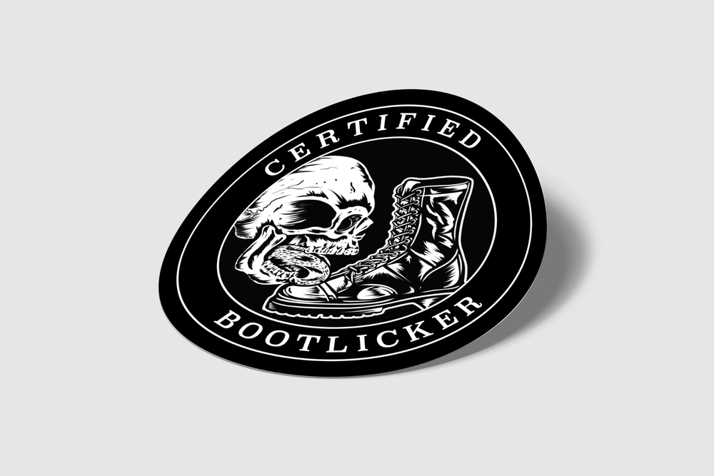 Image of Certified Bootlicker sticker (6 ct.)