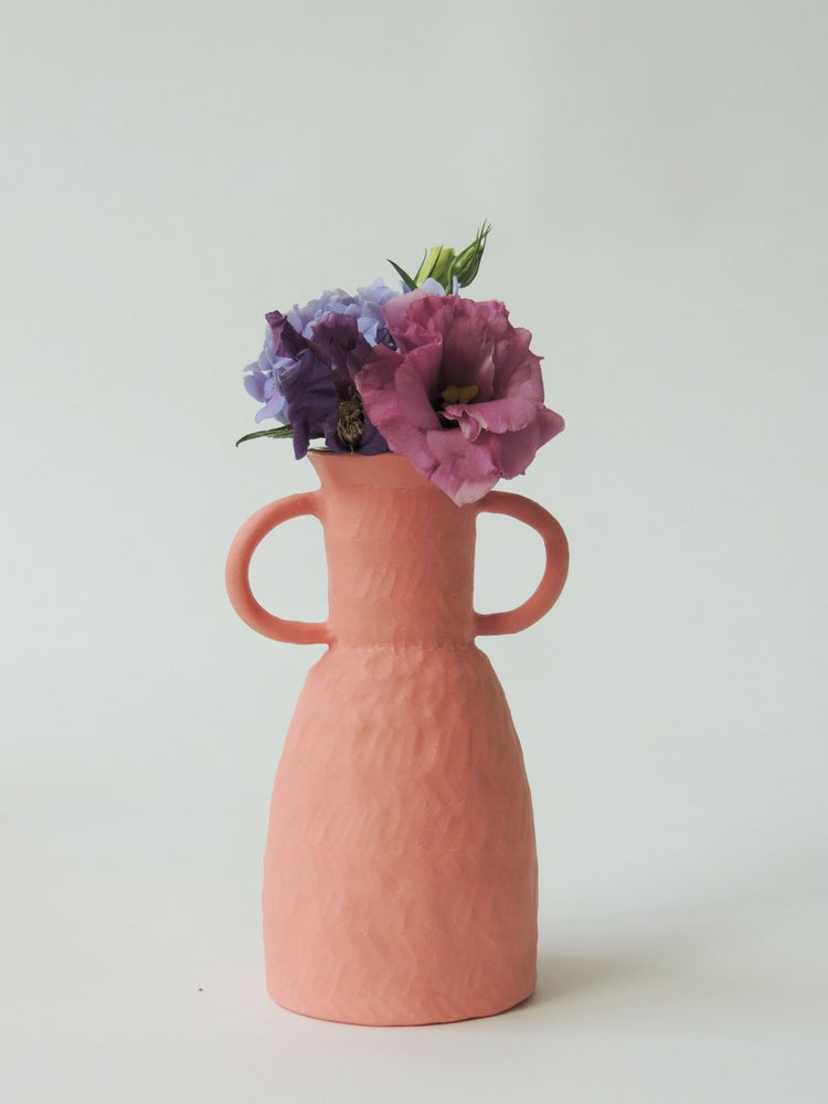 Image of Pink Small Handle Vase