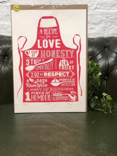Image of Recipe For Love Print