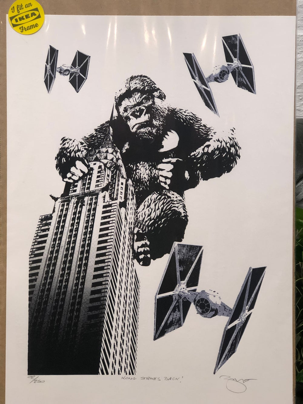 Image of King Kong with Fighter Ships Print