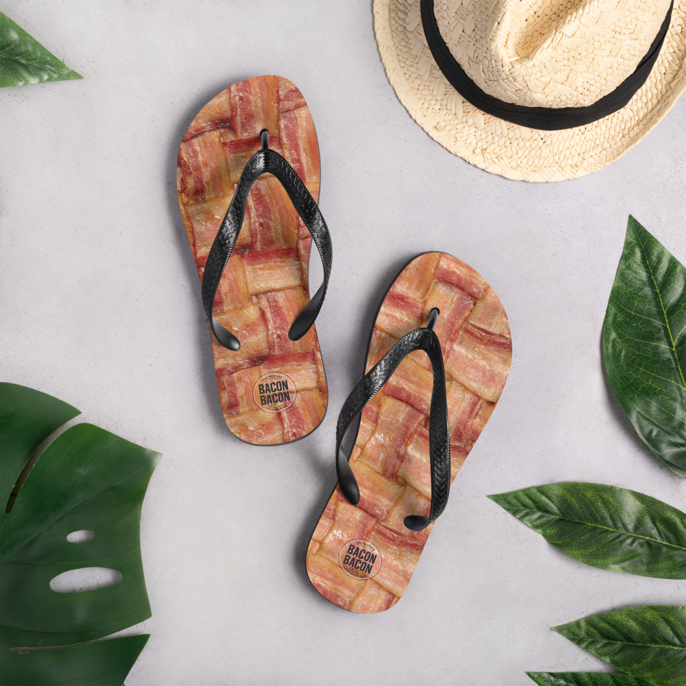 Image of Bacon Bacon Flipflops