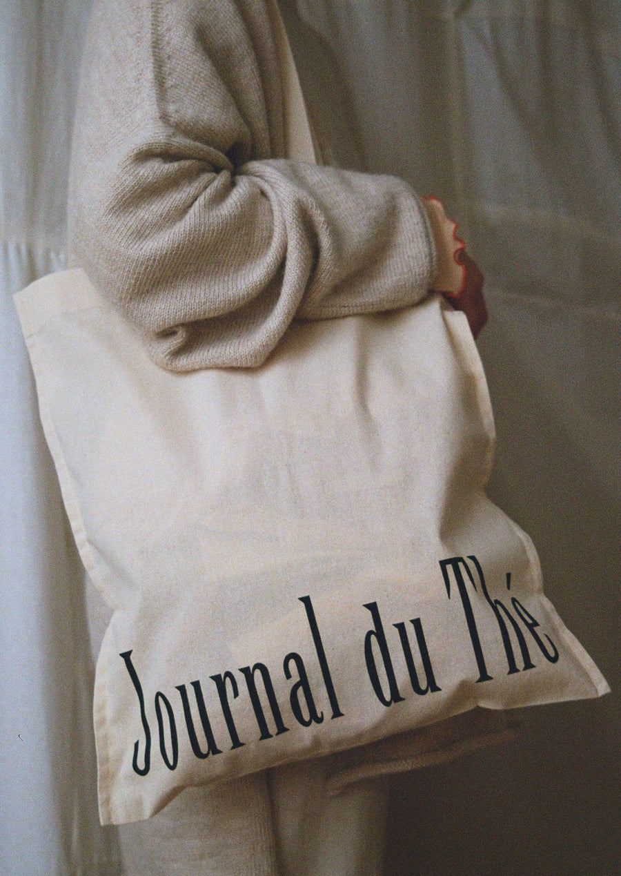"Image of <span style=""color: #f4cccc;""> ONLY TWO LEFT ! </span>Journal du Thé Cotton Bag"