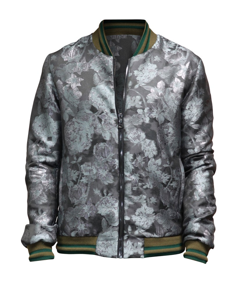 Image of Floral Jacquard Bomber-S