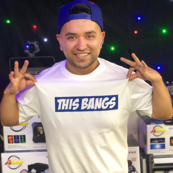 Image of White Tee with Classic This Bangs Logo
