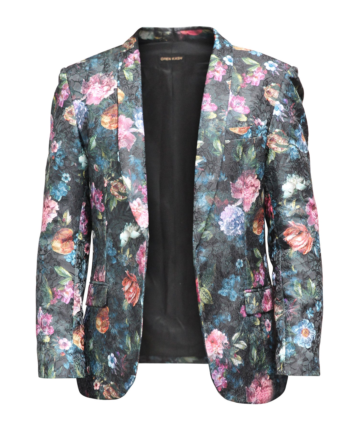 Image of Printed Floral Brocade Blazer