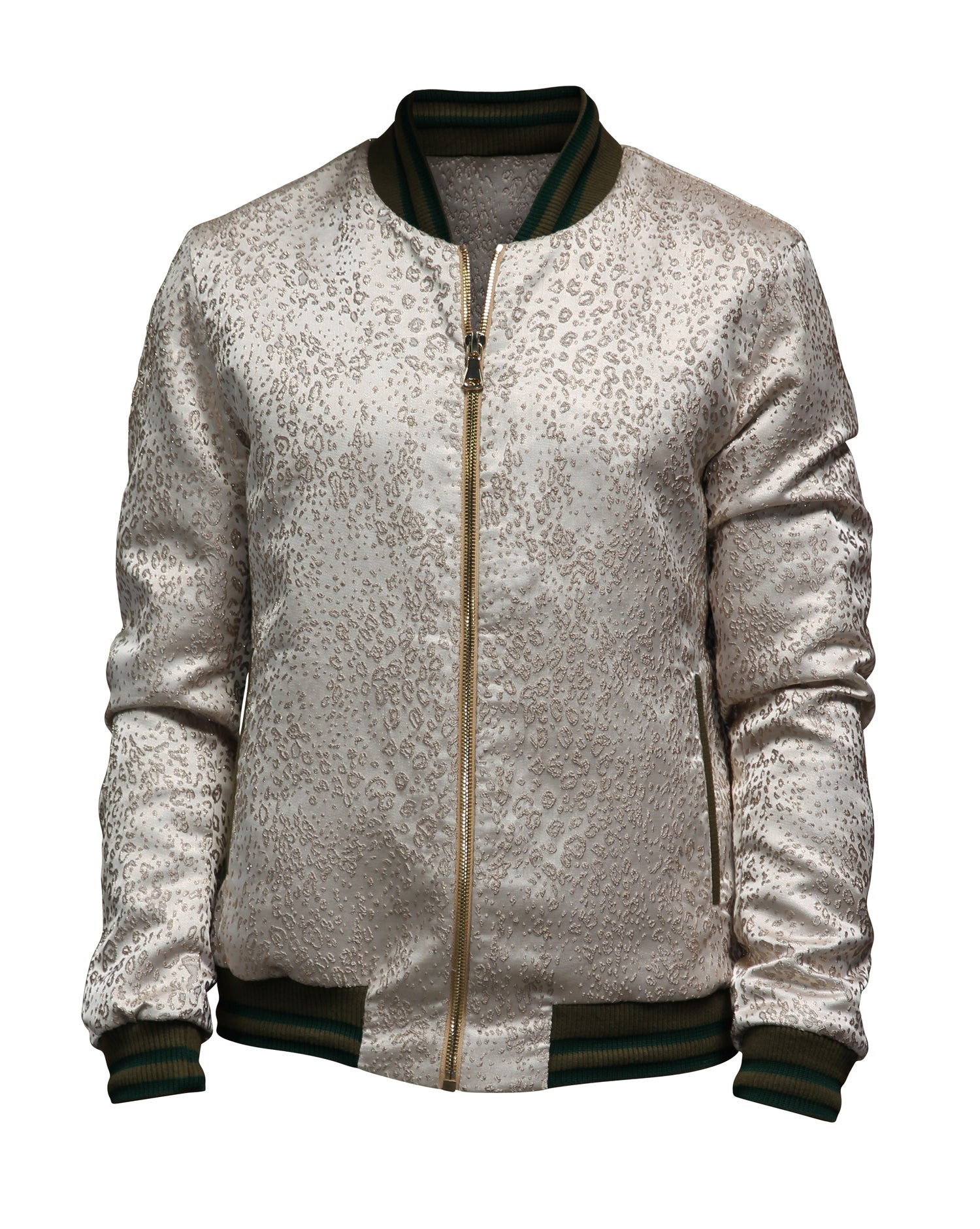 Image of Animal Jacquard Bomber-G