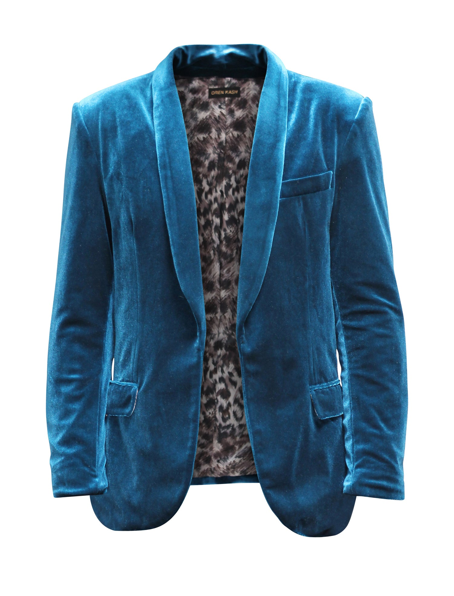 Image of Solid Velvet Smocking Jacket
