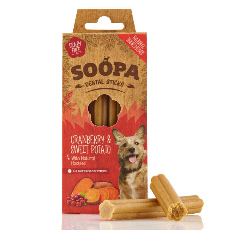 Image of SOOPA cranberry & sweet potato dental sticks
