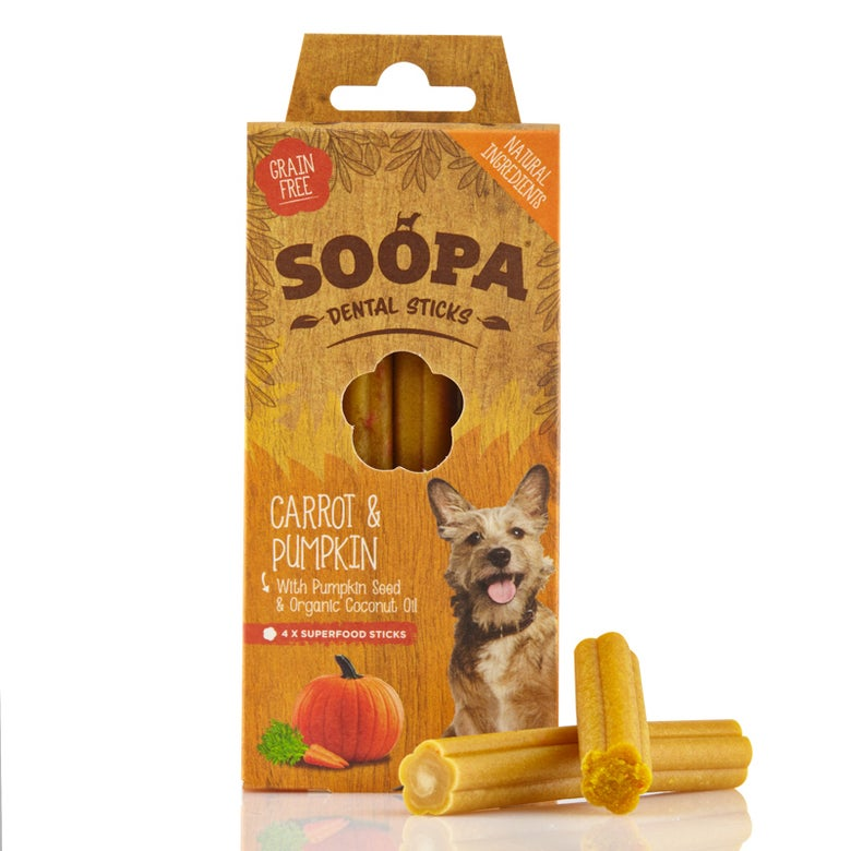 Image of SOOPA carrot & pumpkin dental sticks