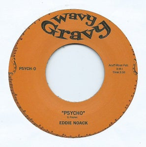 "Image of 7"" Split single. Eddie Noack : Psycho / Porter Waggoner : Rubber Room"