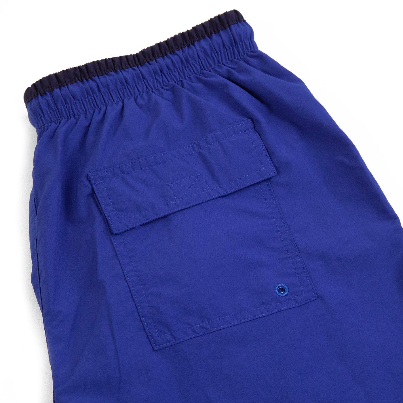 Image of S LOGO SWIM SHORTS - BLUE / NAVY