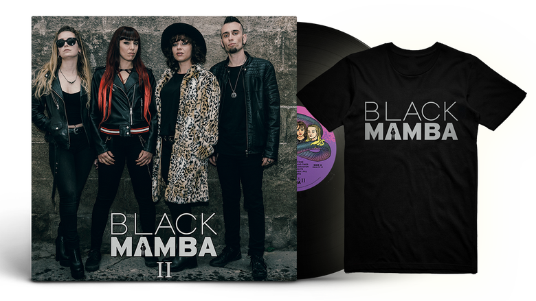 Image of Gold Bundle: Black Mamba II LP + T-Shirt