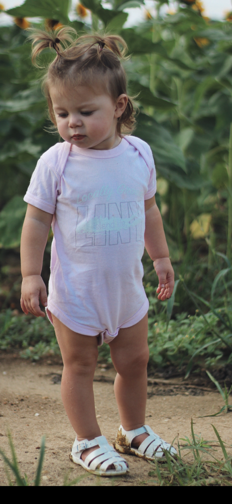 Image of Locally Grown Onesie - Ballerina Pink
