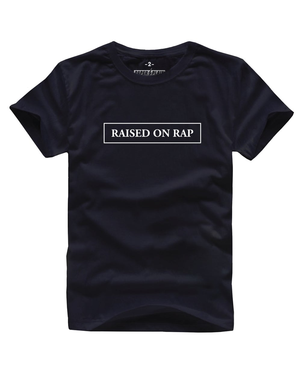 RAISED BY MAMA TEE BLACK