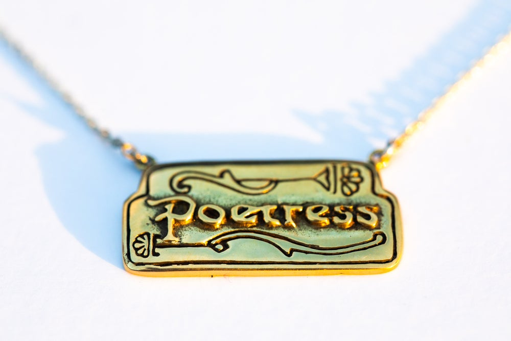 Image of Poetress Charm Necklace
