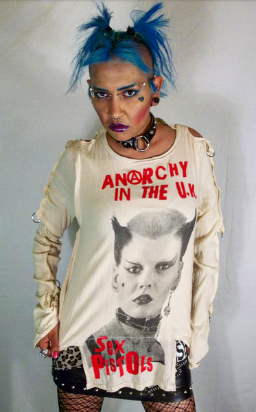Image of Anarchy in the UK Soo Catwoman Sex Pistols bondage shirt