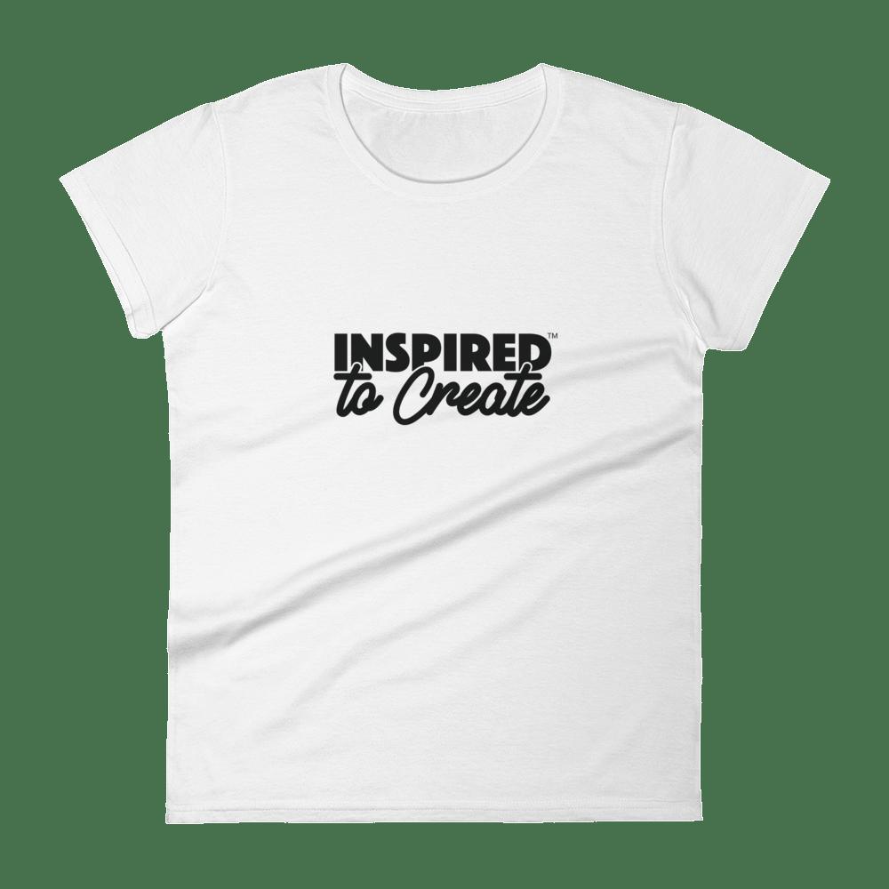Image of Women's Inspired to Create Slogan Tee (White)