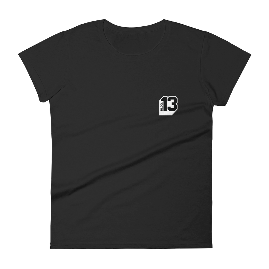 Image of Women's Bldg.13 Logo Signature Tee (Black)