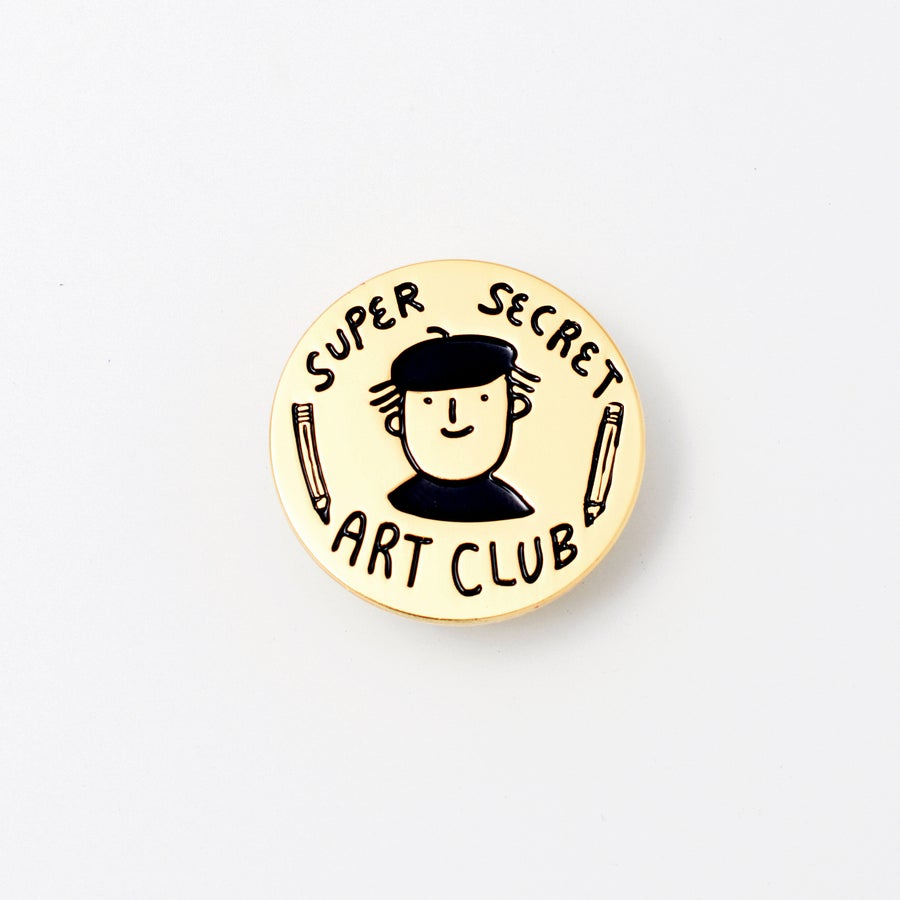 Image of SUPER SECRET ART CLUB member pin