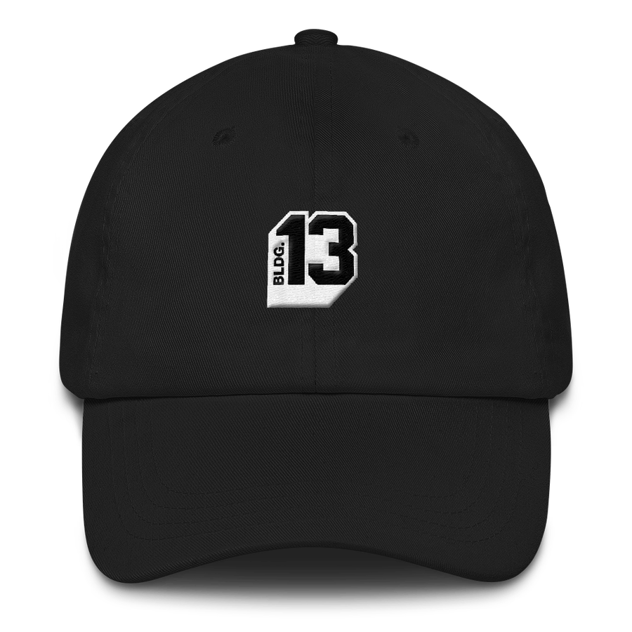 Image of Bldg.13 Logo Dad Hat (Black)