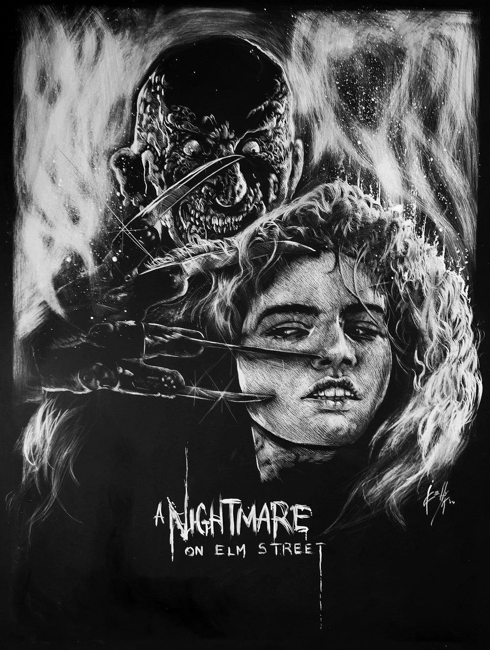A NIGHTMARE ON ELM STREET Limited Edition 2019 FLASHBACK WEEKEND Exclusive poster