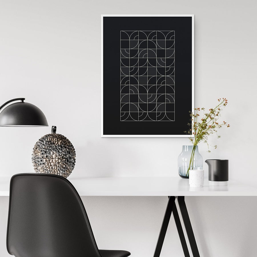 Image of Geometric Night Harvest Art Print